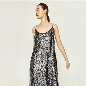 Zara Disco Forest Dress